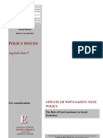 WFP 2012 Update of Safety Nets Policy - The Role of Food Assistance in Social Protection