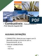 Combustíveis - Ficha de estudo 67 - Química - Prof Du