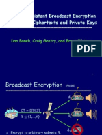 Collusion Resistant Broadcast Encryption