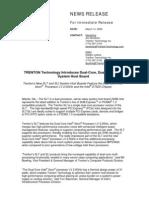 Trenton Technology SLT/SLI News Release