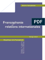 Francophonie Et Relations Internationales