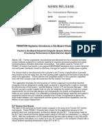 Trenton Technology Systems 6 Segment System News Release