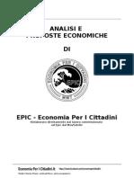 EPIC (Economia per i cittadini) - Analisi e proposte. Análisis y propuestas