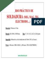 Cartel Resumen Curso Práctico de Soldadura MIX 30 horas
