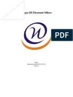 Tugas III Ekonomi Mikro