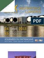 Programme Journées du Patrimoine Aix 2013