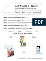 Many States of Water Worksheet