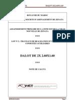 Note de Calcul Dalot d o o t Complet Version 2