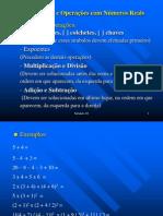 Módulo 03 - Propriedades e Operações com Números Reais
