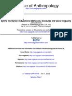 Vendiendo El Mercado-standars Educacionales-discurso y Desigualdad Social