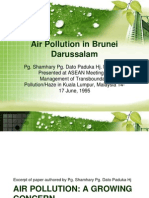 Air Polution a growing concern in brunei