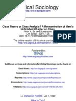 Teoria de Clases o Analisis de Clases-rexaminar El Capitulo Sin Terminar de Marx