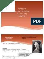 Appunti di filosofia (classe quarta)