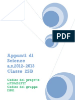 Appunti di scienze (classe seconda)