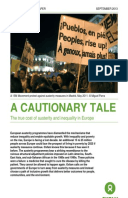 A Cautionary Tale: The true cost of austerity and inequality in Europe