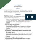 Global Sales Manager Business Development in San Francisco Bay CA Resume Dan Pearson