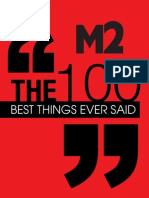 100 Best Things Ever Said