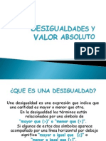 u1 Desigualdades y Valor Absoluto