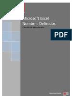 Microsoft Excel - Creación de una constante