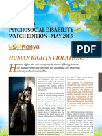 Kenya Psychosocial Disability May 2013 Edition Newsletter