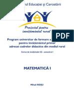 4.Matematica I PIR M Rosu