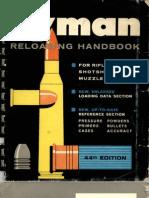 Lyman Reloading Handbook --- 44th Edition --- 1967