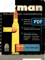 Lyman Reloading Handbook --- 44th Edition --- 1967