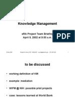 Knowledge Management 4-10-02