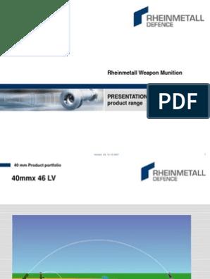 Presentation Rheinmetall Defence 40mm Product Range   Fuze   Shell