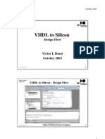 VHDL to Silicon Design Flow Victor L Dunn