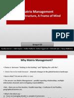 29 Matrix Management