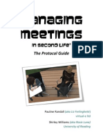 Managing Meetings in Second Life - The Protocol Guide