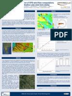 Wind resource assessment on a complex terrain
