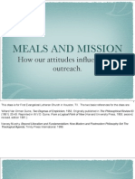 Meals and Mission