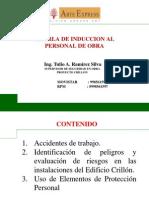 CHARLA DE INDUCCIÓN PERSDONAL DE OBRA DE LOCATARIOS