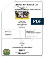 Kettle Run basketball golf tournament flyer 2013