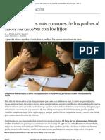 Los diez errores más comunes de los padres al hacer los deberes con los hijos - ABC