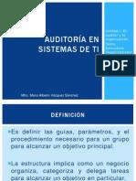 AuditoríaTI (Unidad I Estructura organizacional y Funciones de auditoría Ver 1.0).pptx