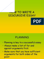 How to Write a Discursive Essay1