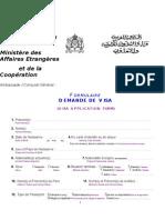 Formulaire Visa MAEC