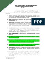 Estructura de Los Informes de Laboratorio De