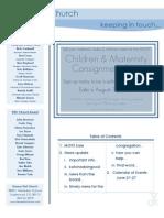 Newsletter - June 21, 2009