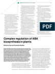 Complex regulation of ABA biosynthesis in plants