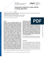 Mechanisms underlying plant resilience to water deficits: