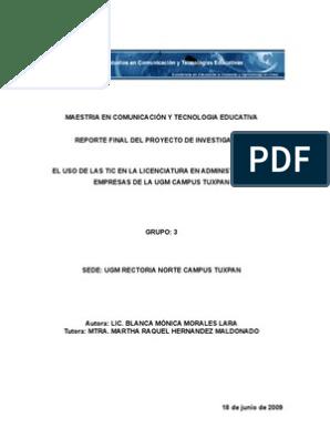 Reporte Final 18 Tecnología De Información Y