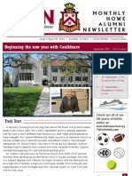 The Howe School September 2013 Maroon and White Newsletter