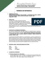 Terminos de Referencia - Expediente Tecnico Agua y Alcantarillado La Soledad