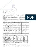 Analisi RegressioneLineare