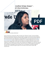 'Principled Journalism Brings Danger' - Mandana Ismail Abeywickrema