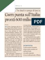 Massimo Caputi Feidos - GWM con Massimo Caputi punta a investire in Italia